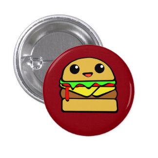 Hamburguesa del queso de Kawaii Pin Redondo De 1 Pulgada