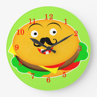 Hamburguesa del queso de la novedad de la reloj redondo grande