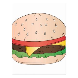 Hamburguesa del queso tarjetas postales