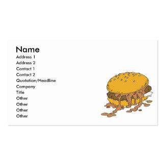 hamburguesa descuidada del chile tarjetas de visita