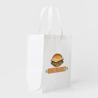 Hamburguesa divertida bolsa de la compra