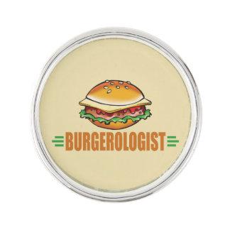 Hamburguesa divertida insignia