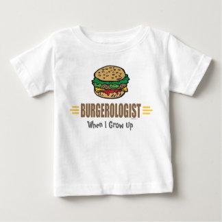 Hamburguesa divertida playera de bebé