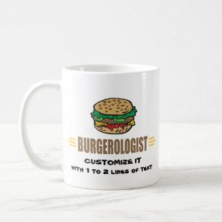 Hamburguesa divertida taza de café