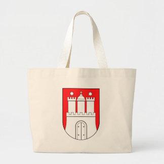 Hamburguesa escudo de armas bolsa tela grande