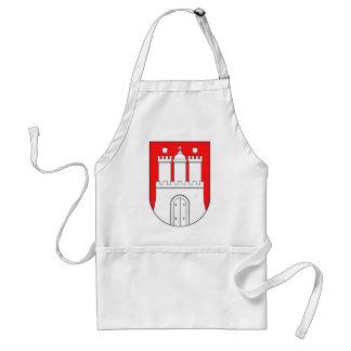 Hamburguesa escudo de armas delantal