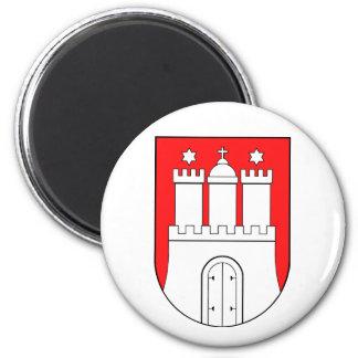 Hamburguesa escudo de armas imán redondo 5 cm