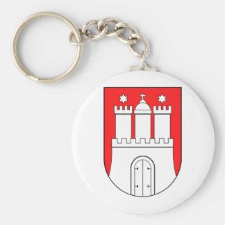 Hamburguesa escudo de armas llavero redondo tipo pin