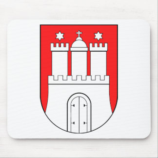Hamburguesa escudo de armas mousepad