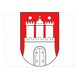 Hamburguesa escudo de armas tarjeta postal