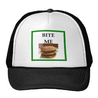 hamburguesa gorros bordados