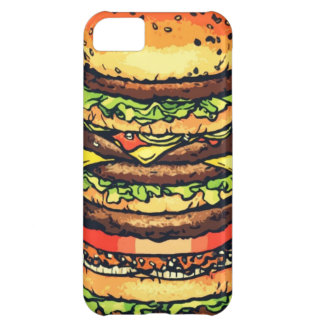 Hamburguesa grande, colorida funda para iPhone 5C