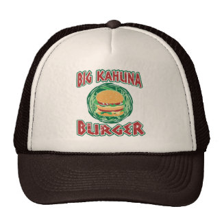 hamburguesa grande del kahuna gorro de camionero