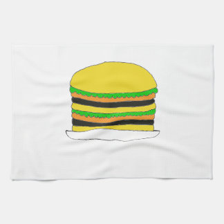 Hamburguesa grande toallas