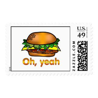 Hamburguesa oh, sí timbres postales