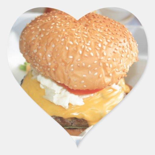 Hamburguesa Pegatina En Forma De Corazón