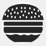 hamburguesa pegatina redonda
