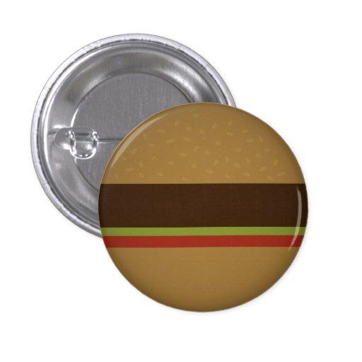 Hamburguesa Pin Redondo De 1 Pulgada