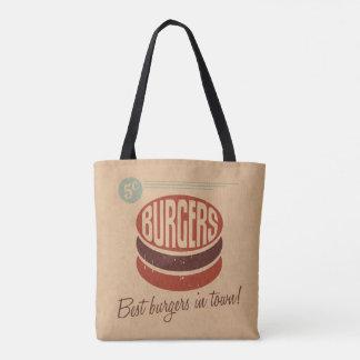 Hamburguesa retra bolsa de tela