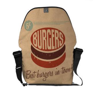 Hamburguesa retra bolsas de mensajeria
