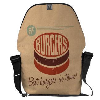Hamburguesa retra bolsas de mensajería