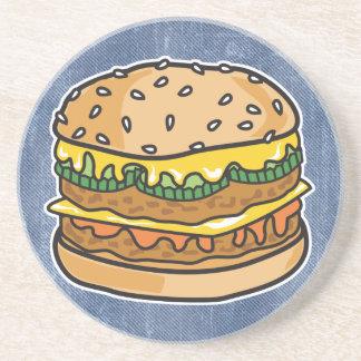 hamburguesa retra del queso posavasos personalizados
