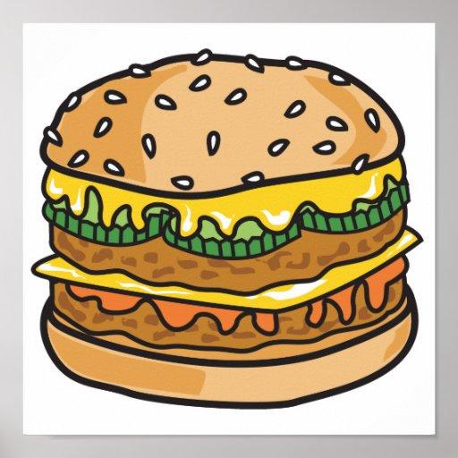 hamburguesa retra del queso poster