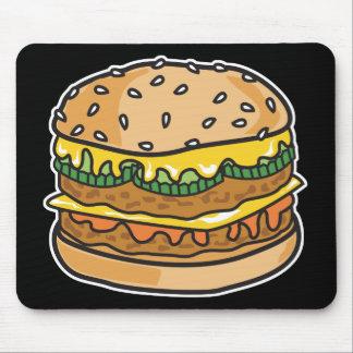 hamburguesa retra del queso alfombrilla de ratón
