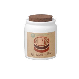 Hamburguesa retra jarras para caramelos