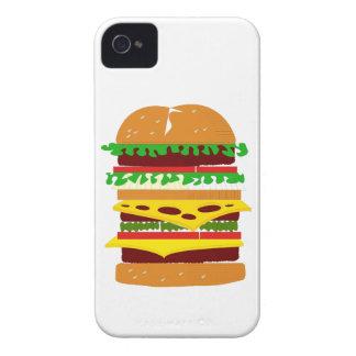 Hamburguesa triple apilada iPhone 4 cárcasa