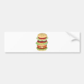 hamburguesa triple del apilador pegatina para auto