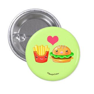 Hamburguesa y botón lindos de Pinback de las Pin Redondo De 1 Pulgada