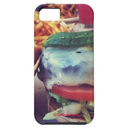 Hamburguesa y caso de Ipone 5 de las fritadas iPhone 5 Protectores