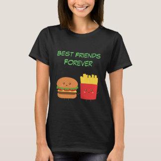 Hamburguesa y fritadas de Kawaii que son BFFs Playera