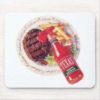 Hamburguesa y fritadas de la salsa de tomate de Te Tapete De Ratones