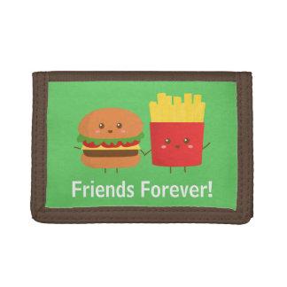 Hamburguesa y fritadas lindas, amigos para siempre