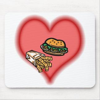 hamburguesa y fritadas alfombrillas de ratones
