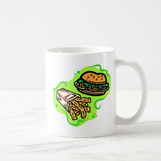 Hamburguesa y fritadas taza