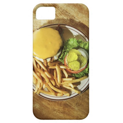 Hamburguesa y patatas fritas iPhone 5 Case-Mate cárcasas