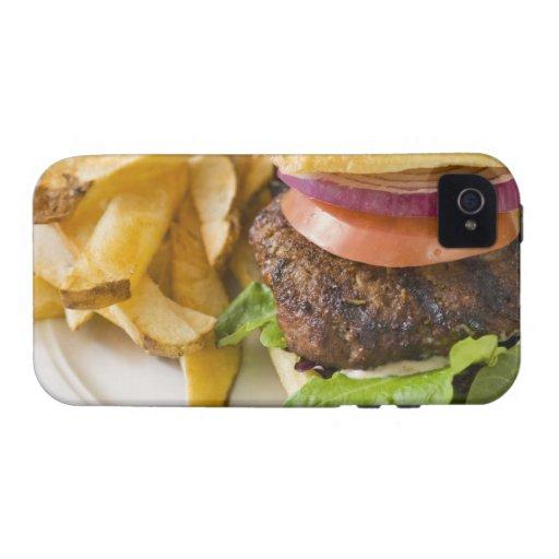 Hamburguesa y patatas fritas iPhone 4/4S funda