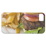 Hamburguesa y patatas fritas iPhone 5 carcasas