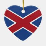 Hamburguesas, bandera de Suráfrica Ornamento Para Arbol De Navidad