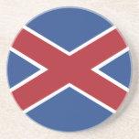 Hamburguesas, bandera de Suráfrica Posavasos Para Bebidas
