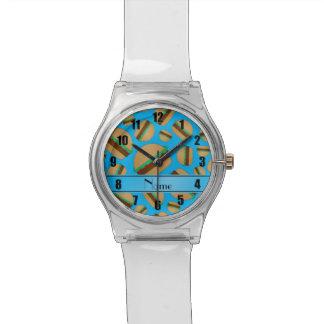 Hamburguesas conocidas personalizadas del azul de reloj de mano