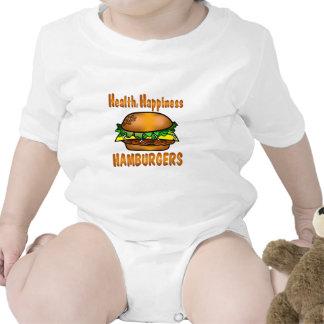 Hamburguesas de la felicidad de la salud traje de bebé