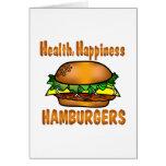 Hamburguesas de la felicidad de la salud felicitacion