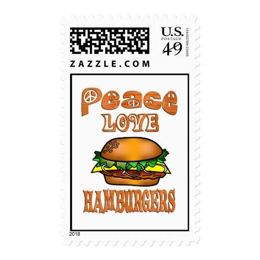 Hamburguesas del amor de la paz envio