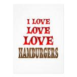Hamburguesas del amor del amor anuncios