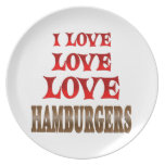 Hamburguesas del amor del amor plato