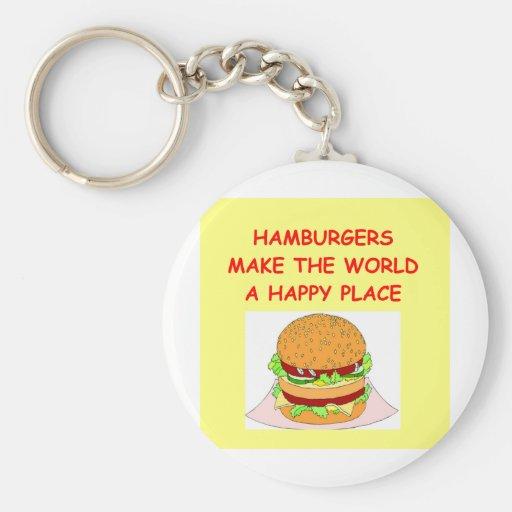 hamburguesas llaveros personalizados
